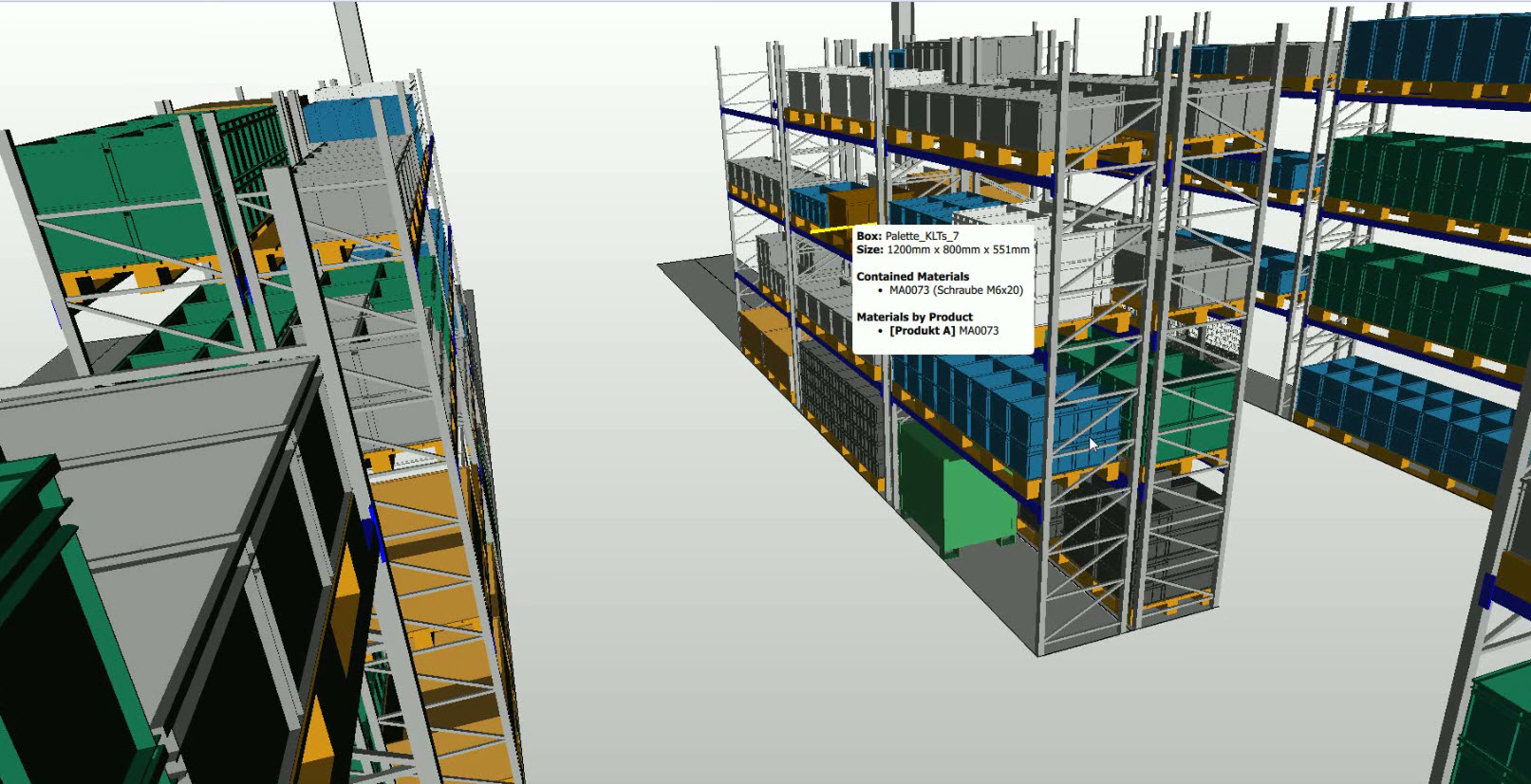 Simulated warehouse planning with ipolog software