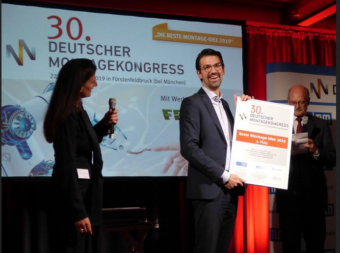 "Flexible cell production ""flexCell"" puts IPO.plan on the winners' podium for the ""Best assembly idea 2019""!"