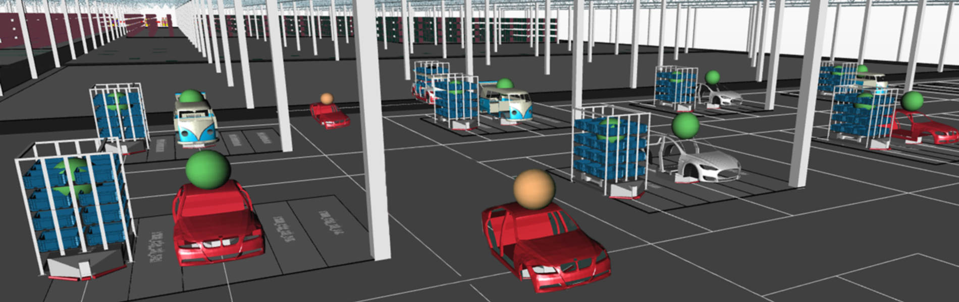 A digitalized tractor assembly line is shown during a free webinar from ipolog
